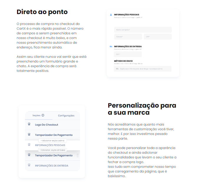landing page que convertem no checkout transparente cartx