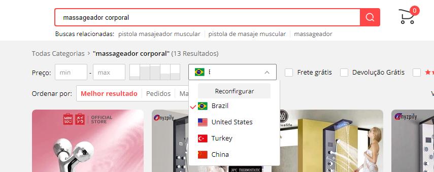 fornecedores brasileiros no Aliexpress