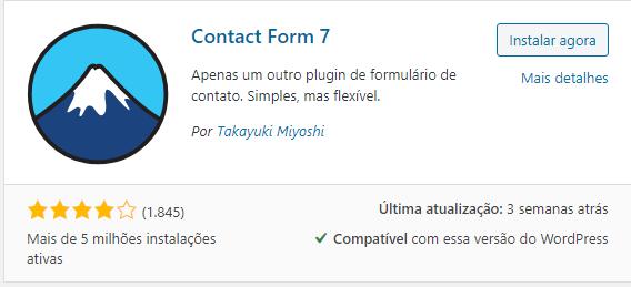 plugin para formulário Contac Form 7